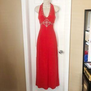 Red Halter Formal Dress size 5/6